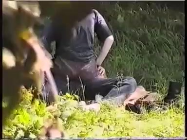 Young couple sex in park