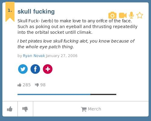 What does skull fuck mean