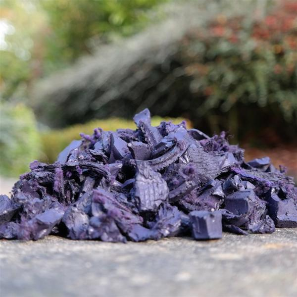 Plum rubber chippings