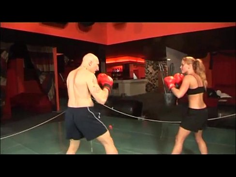 Women boxer gets fucked in ring by a guy
