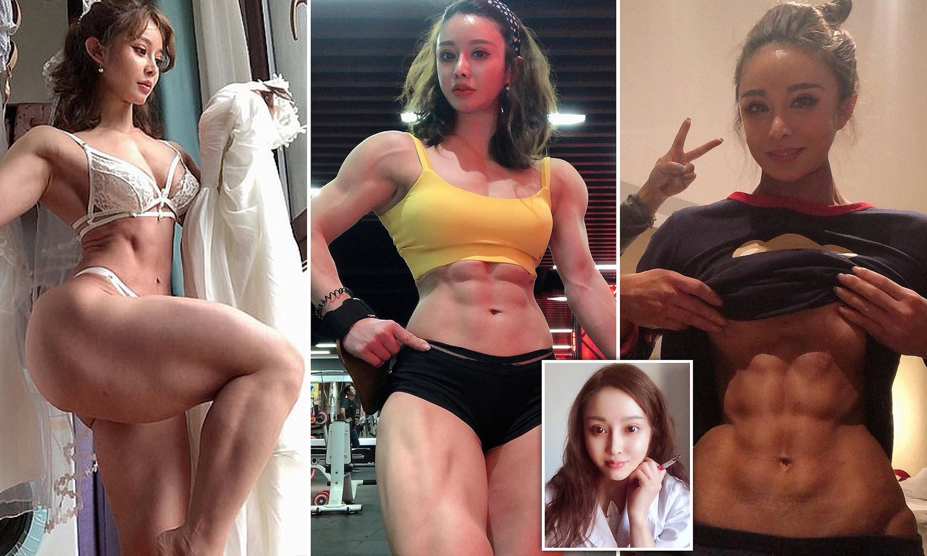 Nude women abs chinese