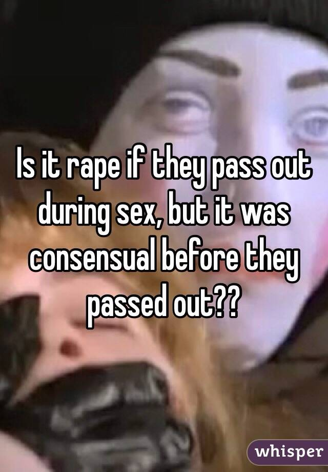 Passing out during sex