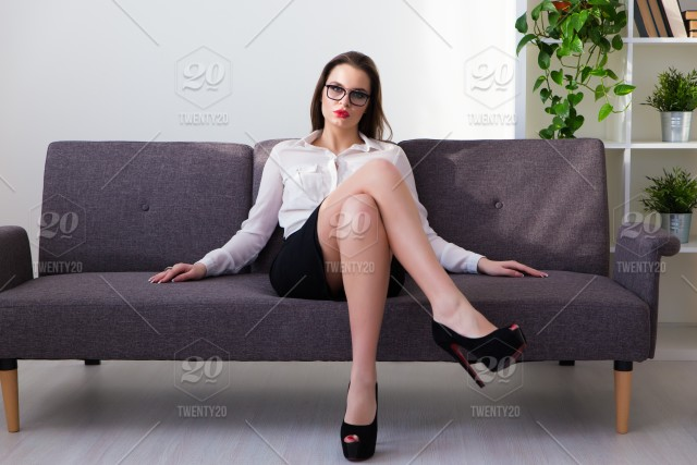Sexy real business women in world